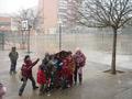 satisfacció dels nins amb la neu!