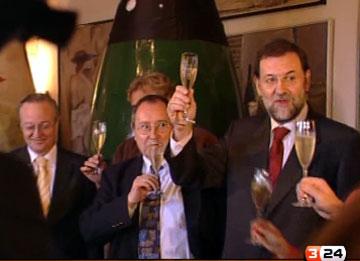 Rajoy brinda amb cava català
