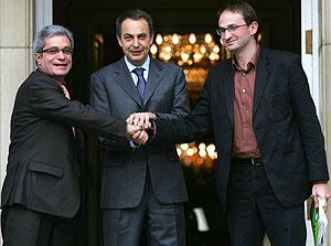 Joan Saura i Joan Herrera amb Zaparero