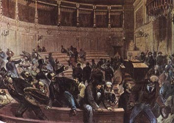 El General Pavia a les Corts, 3 de gener de 1874